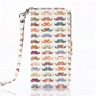 Multicolored Mustache Pattern PU Leather Wallet Case w/ Stand / Photo Frame for IPHONE 6 4.7''