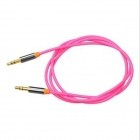 Yellow Knife YK15 3.5mm Male to Male Audio Connection Cable for Mobile, Car AUX - Pink (1m)