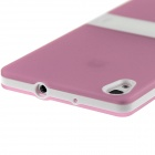 Hat-Prince TPU caso protetor w / stand para Huawei Ascend P7 - Pink