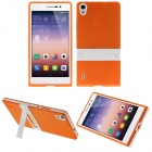 Hat-Prince Protective TPU Case w/ Stand for Huawei Ascend P7 - Orange