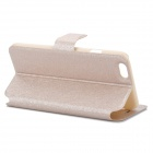 Flip-Open Protective PU Leather Full Body Case with Stand for IPHONE 6 - Gold