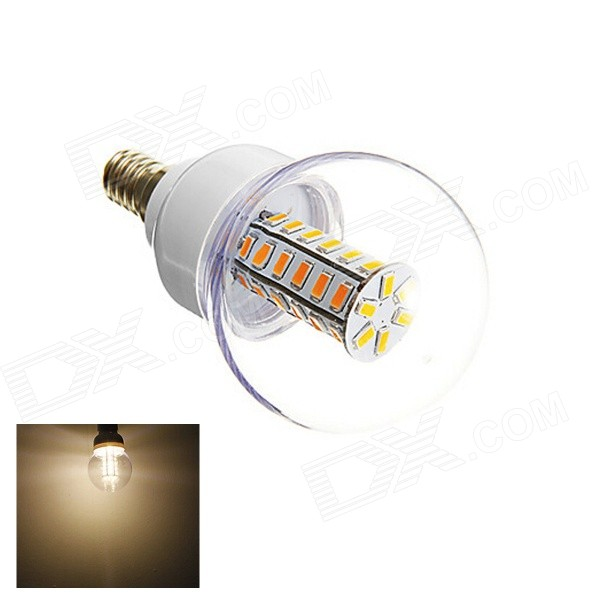 E14 6W 42-5730 SMD 420lm 3000K Warm White Light LED Corn Bulb (AC 220-240V) lexing lx r7s 2 5w 410lm 7000k 12 5730 smd white light project lamp beige silver ac 85 265v
