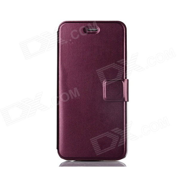 Flip-Open Protective PU Leather Full Body Case with Stand for IPHONE 6 - Purple kinston art figure pattern pu leather full body case w stand for iphone 6 4 7 white grey