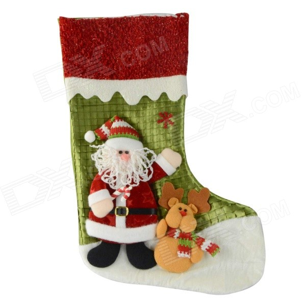 SMKJ E1RC A-Type Christmas Large Santa Sock Decoration Cartoon Creative Gift Bag - Red + Green original modules ps21962 a ps21963 a 0ps21964 a ps21965 a smkj