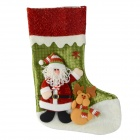 SMKJ E1RC A-Type Christmas Large Santa Sock Decoration Cartoon Creative Gift Bag - Red + Green