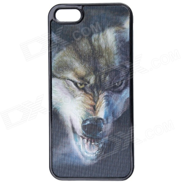 3D Graphic Wolf Pattern Protective Plastic Case for IPHONE 5 / 5S - Black + Gray рюкзак case logic 17 3 prevailer black prev217blk mid