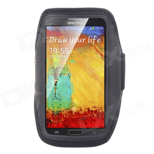 NEJE Running Water Resistant Armband Case for Samsung Note 3 / N9006 - Black
