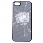 3D Graphic Patterned Protective Plastic Case for IPHONE 5 / 5S - Black + White