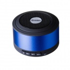 BASN D101 Mini Portable Bluetooth V3.0 + EDR Speaker with Microphone - Blue + Black