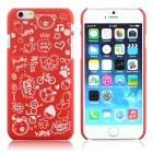 "ENKAY Cartoon Print Protective Matte Non-slip Case Back Cover for 4.7"" IPHONE 6 - Red"