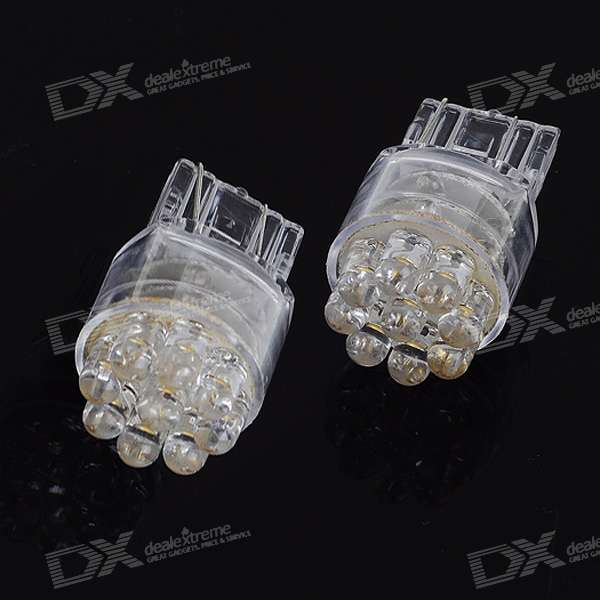 T20 1.05W 12V White Light 21-LED Car Turning Signal Light Bulbs (2-Pack) 100