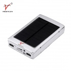 SP30000 Solar Powered Dual USB 15000mAh Li-polymer Battery Power Bank w/ LED Indicator / Flashlight