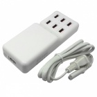 Universal 12A 6-Port USB Charger + Outlet US Plugs Socket Strip w/ Switch / Indicator(150cm/110~240V)