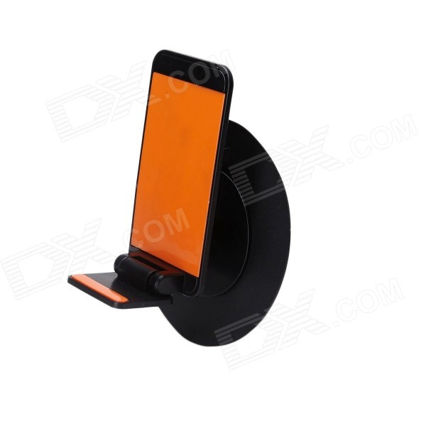 Portable Folding carro universal com Suction Cup Anti-Slip Mat para Celular - Preto + Orange