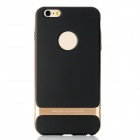 ROCK RK-ip6P Royce Series Protective PC + TPU Back Case for IPHONE 6 Plus - Champagne Gold + Black