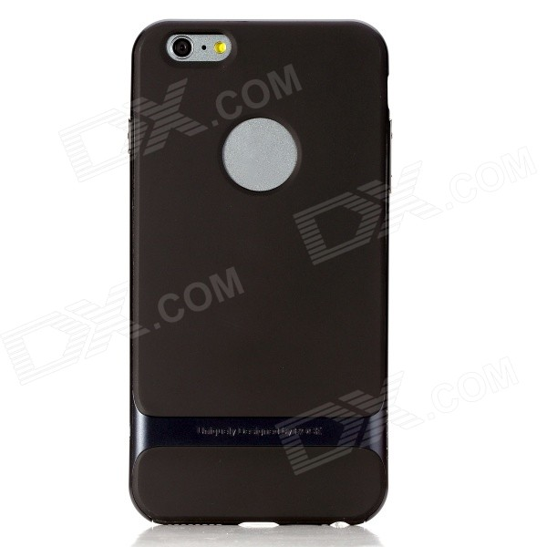 ROCK RK-ip6P Royce Series Protective PC + TPU Back Case for IPHONE 6 Plus 5.5 - Navy Blue + Black iface mall glossy pc non slip tpu back case for iphone 6 plus 6s plus blue