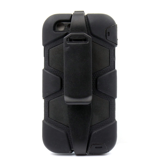 PC-268B Shockproof Fallproof Dustproof Protective Silicone Case Stand for IPHONE 6 4.7 - Black