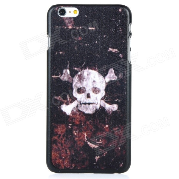 Skull Pattern Protective PC Back Case Cover for IPHONE 6 PLUS - Black + White + Multi-colored iface mall for iphone 6 plus 6s plus glossy pc non slip tpu shell case black