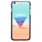 Triangle Desert Pattern Protective PC Back Case Cover for IPHONE 6 PLUS - Light Blue + Multi-colored