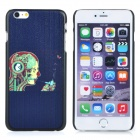 Protective Patterned PC Back Case Cover for IPHONE 6 PLUS - Black + Multi-colored