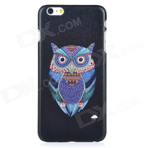 Owl Pattern Protective PC Back Case Cover for IPHONE 6 PLUS - Black + Blue + Multi-colored iface mall for iphone 6 plus 6s plus glossy pc non slip tpu shell case black