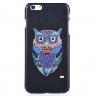 Owl Pattern Protective PC Back Case Cover for IPHONE 6 PLUS - Black + Blue + Multi-colored