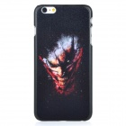 Monster Pattern Protective PC Back Case Cover for IPHONE 6 PLUS - Black + Brownish Red