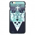 Skull Pattern Protective PC Back Case Cover for IPHONE 6 PLUS - Black + Green