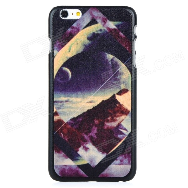 Scenery Pattern Protective PC Back Case Cover for IPHONE 6 PLUS - Black + Multi-colored iface mall for iphone 6 plus 6s plus glossy pc non slip tpu shell case black