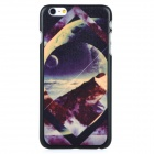 Scenery Pattern Protective PC Back Case Cover for IPHONE 6 PLUS - Black + Multi-colored