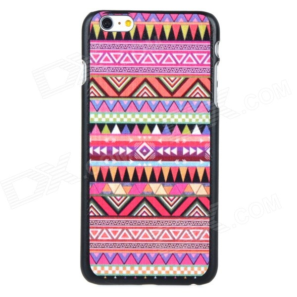 Protective Patterned PC Back Case Cover for IPHONE 6 PLUS - Pink + Multi-colored imd patterned tpu gel cover for iphone 7 plus 5 5 inch tribal dream catcher