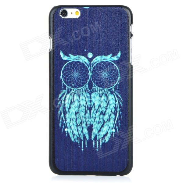 Owl Patterned Protective PC Back Case Cover for IPHONE 6 PLUS - Black + Green imd patterned tpu gel cover for iphone 7 plus 5 5 inch tribal dream catcher