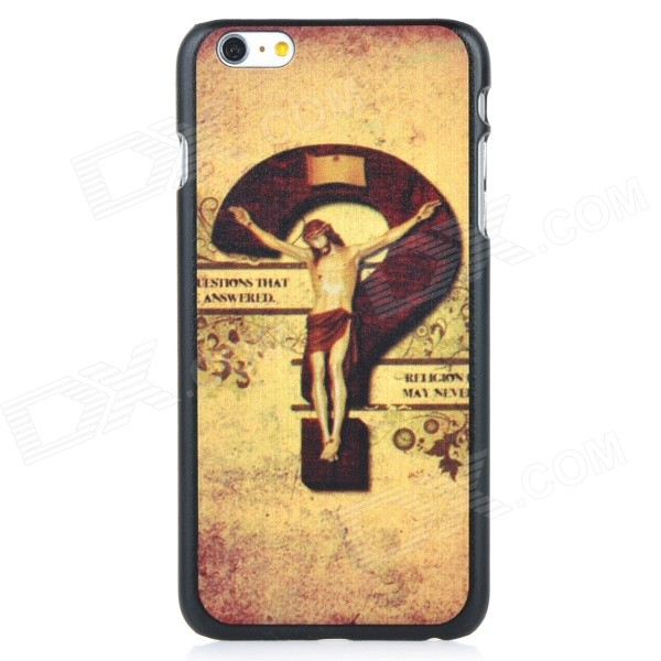 Question Mark Pattern Protective PC Back Case Cover for IPHONE 6 PLUS - Bronze + Brown + Multi-color usams perfume style tpu back case for iphone 6 4 7 brown multi color