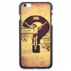 Question Mark Pattern Protective PC Back Case Cover for IPHONE 6 PLUS - Bronze + Brown + Multi-color