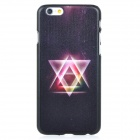 Triangle Pattern Protective PC Back Case Cover for IPHONE 6 - Black + Deep Pink + Multi-colored