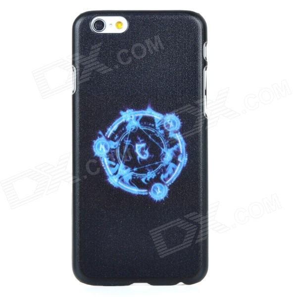 Protective PC Back Case Cover for IPHONE 6 - Black + Blue protective pc hard back case cover for iphone 6 4 7 blue