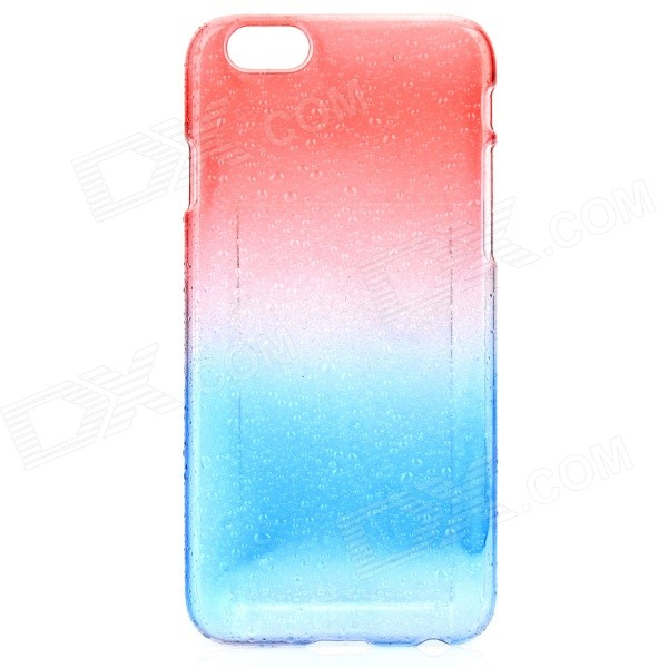 Raindrop Pattern Protective ABS Back Case for IPHONE 6 - Red + Blue raindrop pattern protective abs back case for iphone 5 transparent deep pink orange