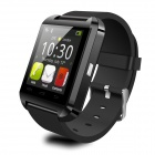 "U8 Wearable 1.48"" Touch Screen Smart Watch w/ Bluetooth & Pedometer - Black"