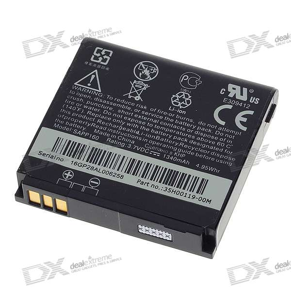 3.7V 1340mAh Rechargeable Li-Ion Battery for HTC Pro