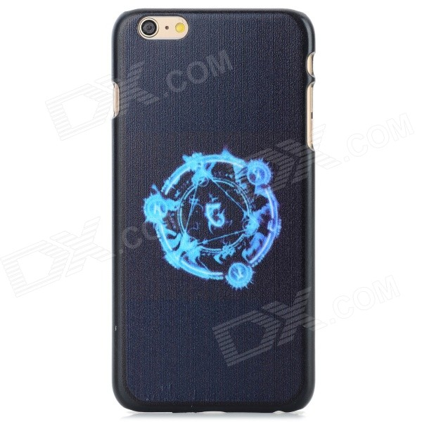 Protective PC Back Case for IPHONE 6 PLUS - Black + Blue iface mall glossy pc non slip tpu back case for iphone 6 plus 6s plus blue