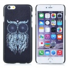 Owl Pattern Protective PC Back Case Cover for IPHONE 6 - Black + Blue