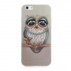 Owl Pattern Protective Soft TPU Back Case Cover for IPHONE 6 - Grey + Blue + Multicolored