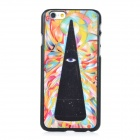 Protective Patterned PC Back Case Cover for IPHONE 6 - Black + Colorful