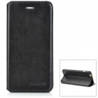 Protective Flip-Open PU + Plastic Case w/ Stand for IPHONE 6 PLUS - Black