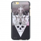 Skull Heads Pattern Protective PC Back Case for IPHONE 6 - Black + White