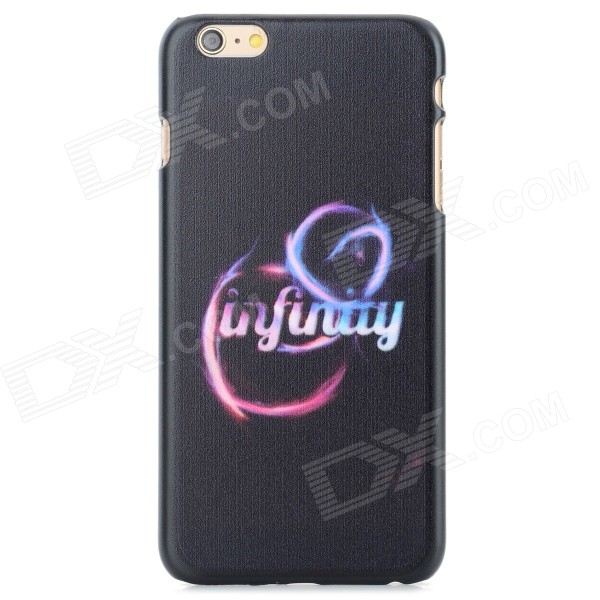 Letter Pattern Protective PC Back Case for IPHONE 6 PLUS - Black + Multi-Color iface mall for iphone 6 plus 6s plus glossy pc non slip tpu shell case black
