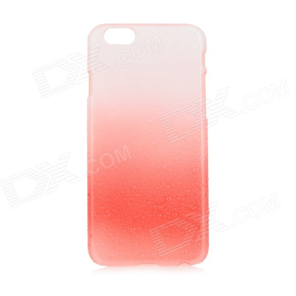 Raindrop Polka Dot Patterned Protective ABS Back Case Cover for IPHONE 6 - White + Red raindrop pattern protective abs back case for iphone 5 transparent deep pink orange