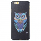 Owl Pattern Protective PC Back Case for IPHONE 6 - Black + Blue + Multi-Color
