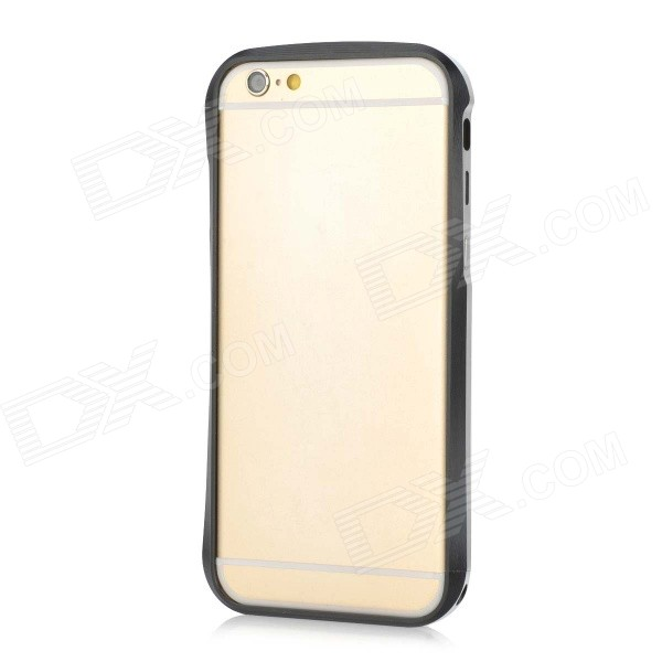 Fashionable Protective Aluminum Alloy Bumper Frame Case for IPHONE 6 - Silver + Black protective aluminum alloy bumper frame for iphone 6 black golden