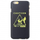 CAUTION Pattern Protective Back Case for IPHONE 6 - Black + Yellow
